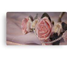 Roses ~ Pearls ~ Love Canvas Print