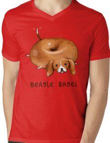 Beagle Bagel Mens V-Neck T-Shirt