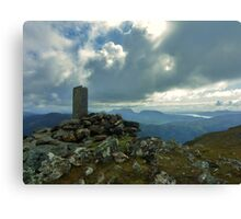 The Summit - Sgurr an Airgid Canvas Print