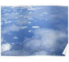 Clouds from above Poster