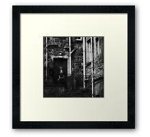 the cigarette break Framed Print