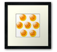 Dragon Balls 7 Framed Print