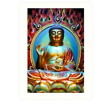 Buddha Bless You Art Print