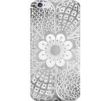 Vintage black white watercolor lace floral pattern iPhone Case/Skin