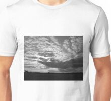 sky in black and white Unisex T-Shirt