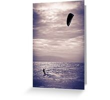 Kite surfing fun Greeting Card