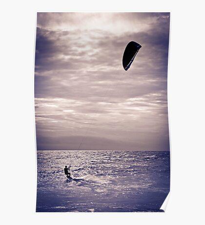 Kite surfing fun Poster