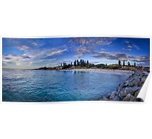 Cottesloe beach panorama Poster