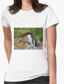 Gentoo Penguins on the Nest Womens Fitted T-Shirt