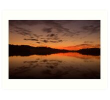 Burn For You - Narrabeen Lakes, Sydney Australia - The HDR Experience Art Print