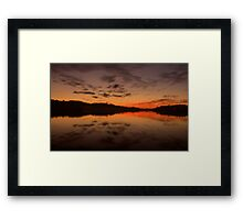 Burn For You - Narrabeen Lakes, Sydney Australia - The HDR Experience Framed Print