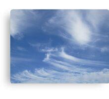 Stripey clouds Canvas Print