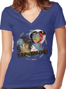 Transmute Women's Fitted V-Neck T-Shirt