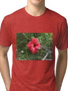 Red flower Tri-blend T-Shirt