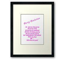 Party Evolution Framed Print