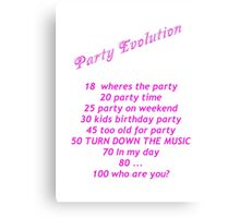 Party Evolution Canvas Print