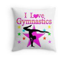 PRETTY PINK STAR GYMNASTICS DESIGN Throw Pillow