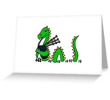 Funny Loch Ness Monster Playing the Bagpipes Greeting Card