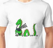 Funny Loch Ness Monster Playing the Bagpipes Unisex T-Shirt