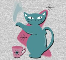 Retro Cat Tea Kids Tee