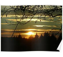 Sunset at Cape Blanco Poster