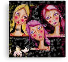 Girls blac Canvas Print