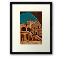 Greece. Rhodes. Palace of the Grand Master of the Knights of Rhodes. Framed Print