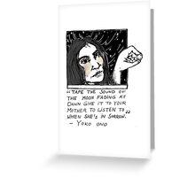 Yoko & the Moon  Greeting Card