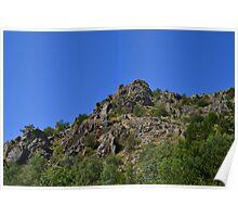 Dangerous cliffs, Rascafria, Spain Poster