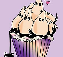 Ghost Cupcake by prouddaydreamer