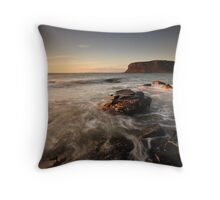 Across the bay to Stanley Town Throw Pillow