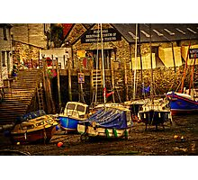 Polperro Low Tide Photographic Print