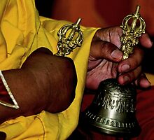 dorje and bell. tibetan ritual, northern india by tim buckley | bodhiimages