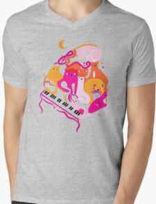 Jazz Cats Mens V-Neck T-Shirt