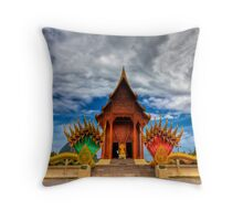 Buddha Temple Throw Pillow
