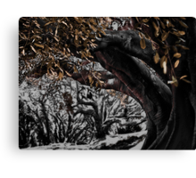 inking in the woods Canvas Print