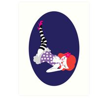 Striped Sock Love Art Print