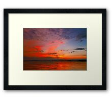 Fire In The Sky ©  Framed Print
