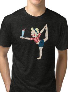 Pin Up Yoga Tri-blend T-Shirt