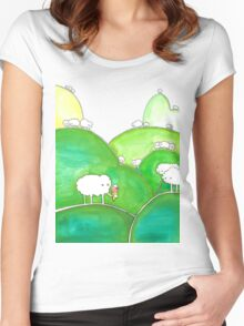 Grass flavoured Ice cream mmmm Women's Fitted Scoop T-Shirt