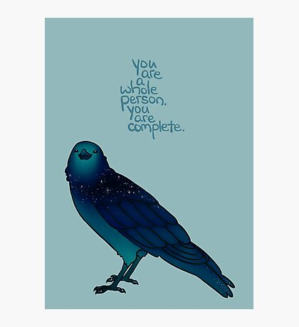 Cosmic Crow Photographic Print