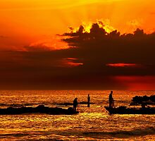 Fishing around sunset - Pantokratoras, Preveza by Hercules Milas