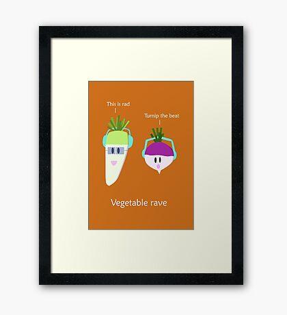 Vegetable rave Framed Print