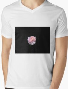 Chive flower at night (2) Mens V-Neck T-Shirt