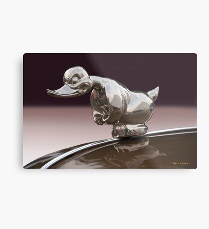 Angry Duck Hood Ornament Metal Print