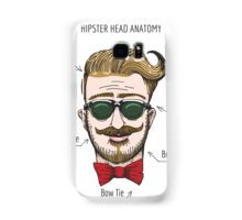 Humorous Hipster head structure. Free font used.  Samsung Galaxy Case/Skin