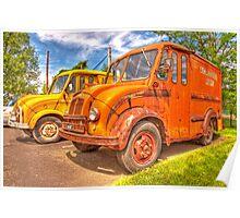 old milk trucks Poster