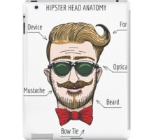 Humorous Hipster head structure. Free font used.  iPad Case/Skin