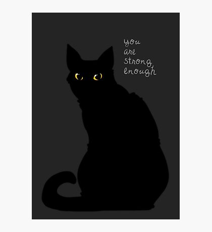 """Strong Enough"" Cat Photographic Print"