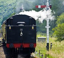 Incoming Steam Train by Paul Collin
